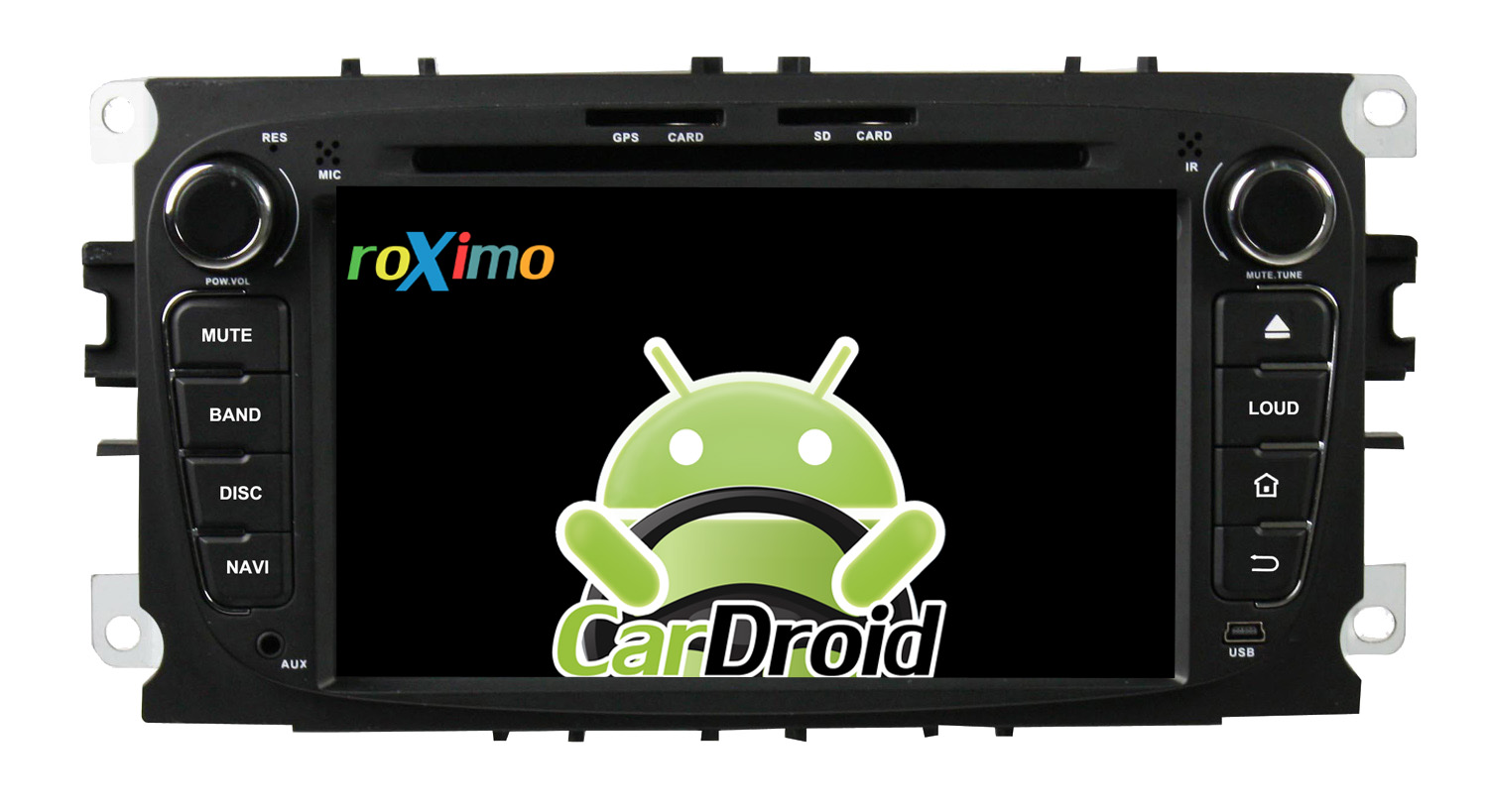 Штатная магнитола Roximo CarDroid RD-1702B для Ford Focus 2, Mondeo (Android 8.0) черный